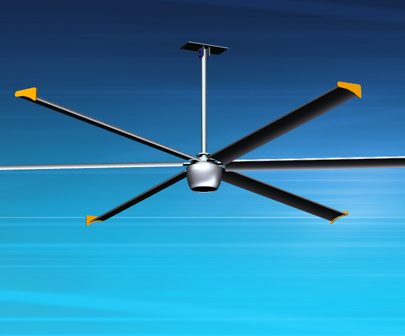 16 FT 4.9M Brushless Ceiling Fan Silver Color With Gearless BLDC Motor