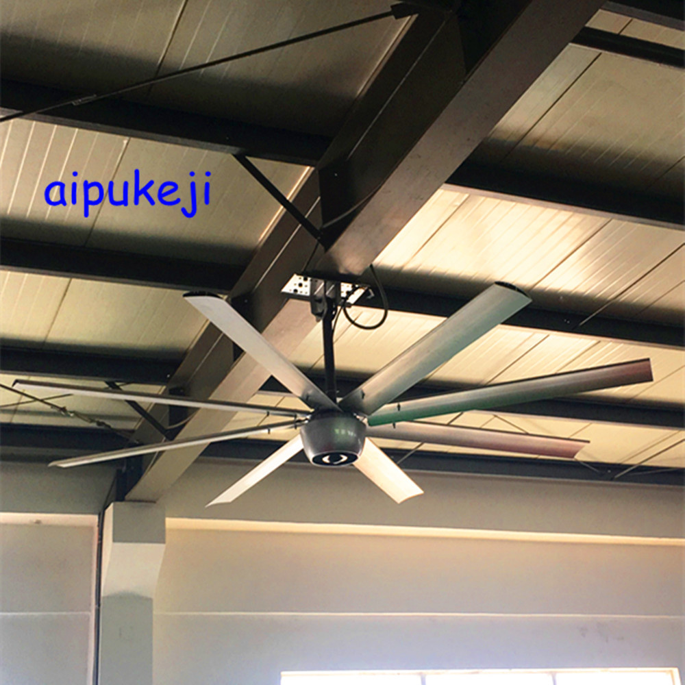 Gearless BLDC Motor Quiet Ceiling Fans , Industrial Ceiling Fans For Warehouses