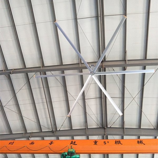 Large Industrial 12 Foot Ceiling Fan , HVLS Ceiling Fan With AC Motor
